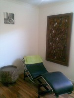Client chair for ultimate reflexology and pedicure pampering
