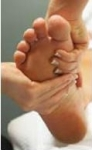 Get your foot massage and pedicure from a professional